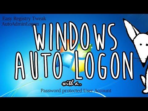 Windows Auto Logon via Registry // Password Protected