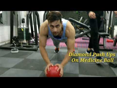 |Perfect Diamond Push Ups On Medicine Ball|Ummer Khan|Health And Fitness Video 2018|