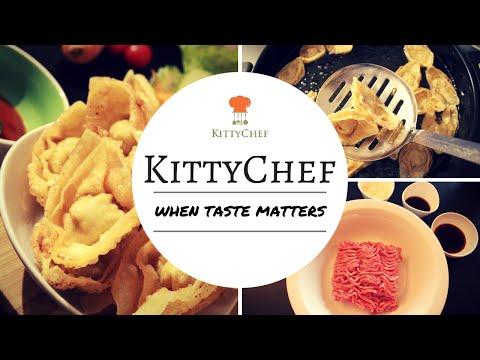 Fried wontons – a guilty pleasure,  Homemade, crispy, simple ingredients.