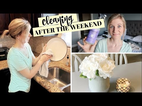 CLEANING AFTER THE WEEKEND | ENTIRE HOUSE SPEED CLEANING | MAJOR CLEANING MOTIVATION