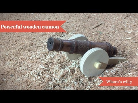 making a mini wooden toy cannon