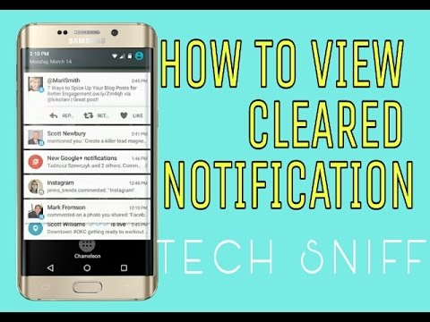 HOW TO VIEW CLEARED OR DELETED NOTIFICATIONS