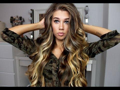 Big loose curls / Victoria's Secret soft waves (ENG.SUBS)