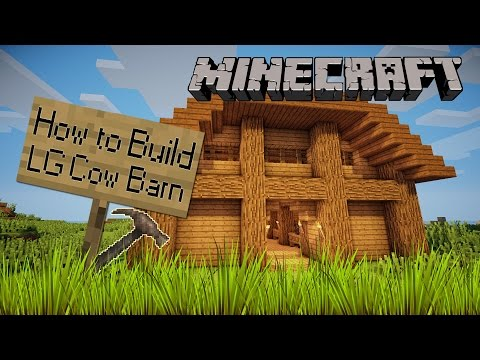 Minecraft | How To Build | Large Cow Barn