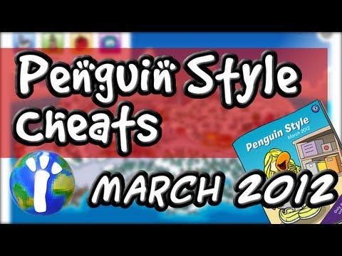 Club Penguin Cheats - March 2012 Penguin Style Clothing Catalog