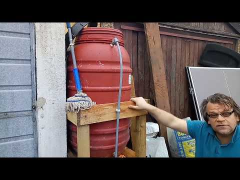 Save precious drinking water, clean with free rainwater