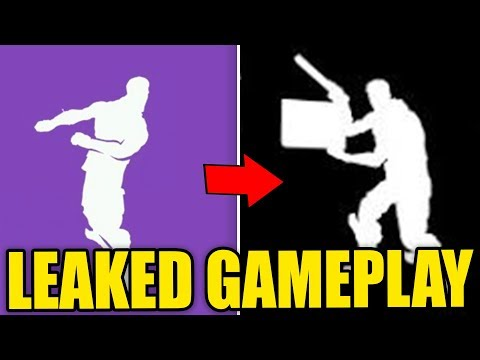 NEW EMOTES *LEAKED* IN FORTNITE GAMEPLAY! FIRST LOOK! (Fortnite Battle Royale Leaked)