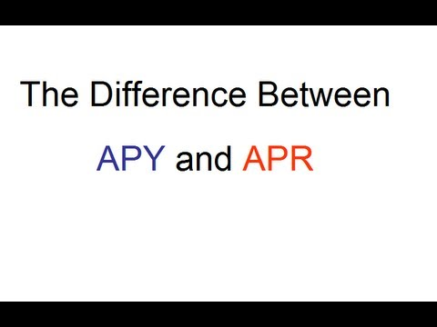 Difference Between APY and APR