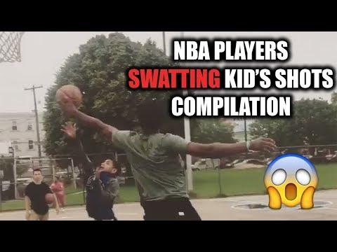 NBA Players SWATTING Kid's Shots Compilation (MUST WATCH!!)