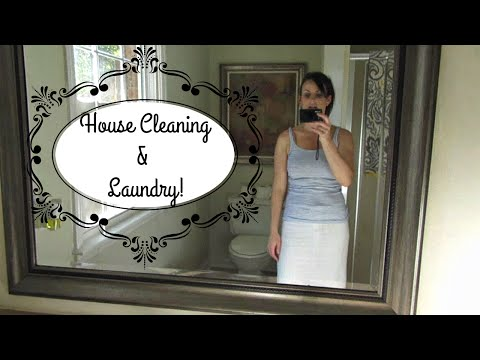 House Cleaning and Catching up on Laundry {Daily Vlog}