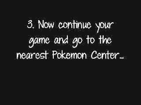 WORKING Liberty Pass Code - Pokemon Black version