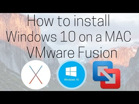 How to install Windows 10 on a Mac | VMware Fusion - OS X El Capitan