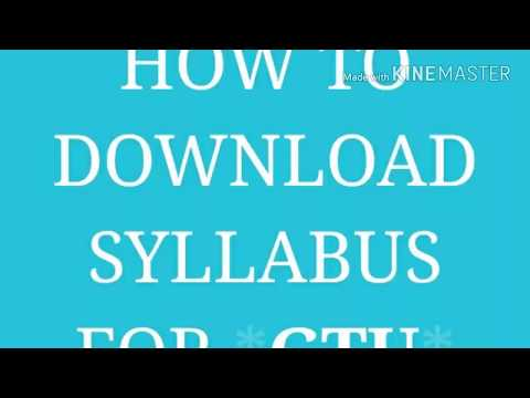 How to Download GTU Syllabus for gtu student to download our mobaile in easy method