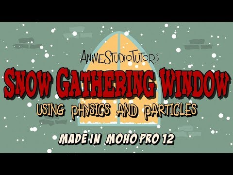 Snow Gathering Effect made in Moho Pro 12