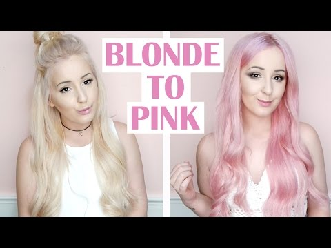 How To: Blonde To Pink Hair Tutorial | by tashaleelyn