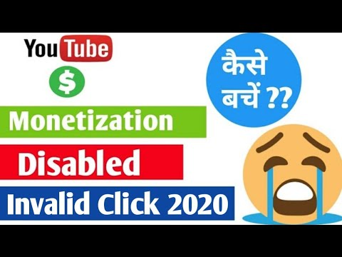 Google Adsense Account disabled due to invalid click !! monetization disable