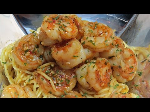 QUICK   &   EASY   SPICY   GARLIC   SHRIMP   &   PASTA