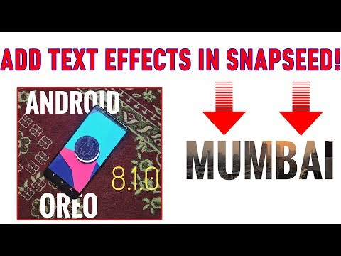 Text effects in Snapseed app! Add text behind an object! #EditWithDJ