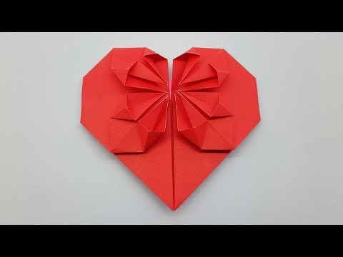 How to make a Paper Heart very easy way - Origami Heart Folding Instructions