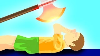 EXPERIMENT Glowing 1000 degree KNIFE vs KID! (Happy Wheels)