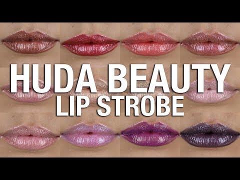 HUDA BEAUTY LIP STROBE 💋 LIP SWATCHES 💄