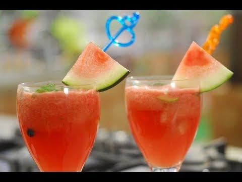 Watermelon Lemonade | Cook Smart | Sanjeev Kapoor Khazana