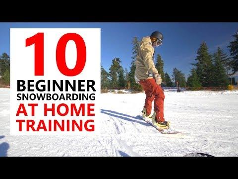 10 BEGINNER SNOWBOARD SKILLS - AT HOME TRAINING