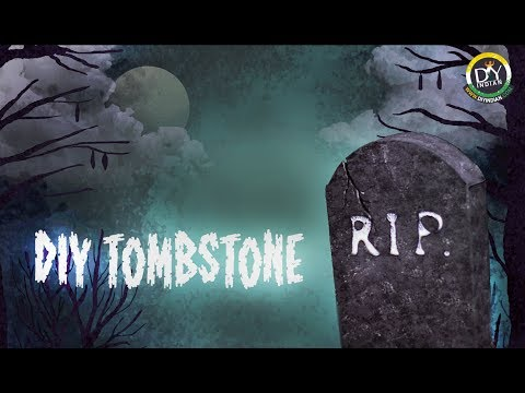 How to make Halloween Tombstone | Halloween 2017 | Halloween Decorations : DIYIndian