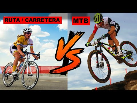 MTB Vs. CICLISMO DE CARRETERA  | BICICLETA DE MONTAÑA VS  RUTA. │TrotaMontesMTB