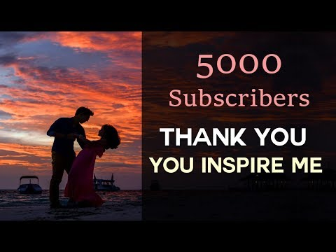 Thank You - YOU Inspire Me