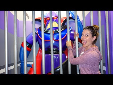 Toy Story Zurg In Jail!!! Playing at Disney World Vlog