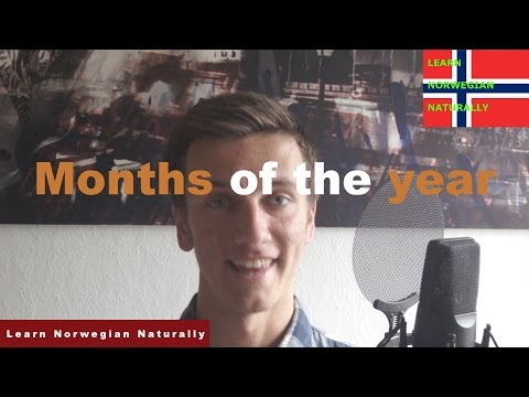 Months of the Year - Learn Norwegian for Beginners