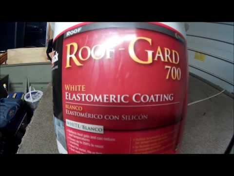 DIY mobile home roof painting