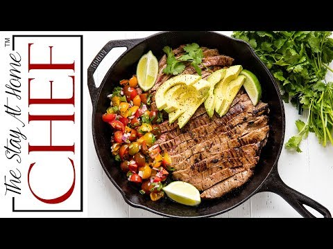 How to Make Mexican Skillet Steak | The Stay At Home Chef