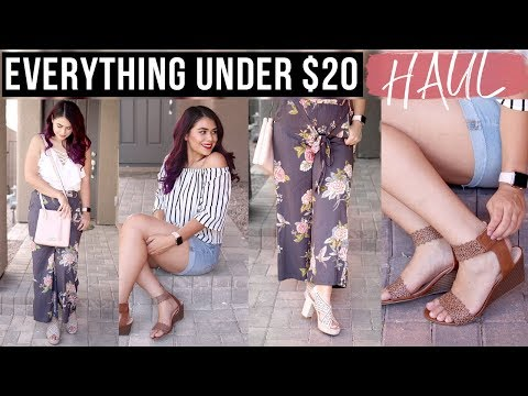 $20 & UNDER SUMMER CLOTHING TRY-ON HAUL |  MACY'S BACKSTAGE SIZE 8