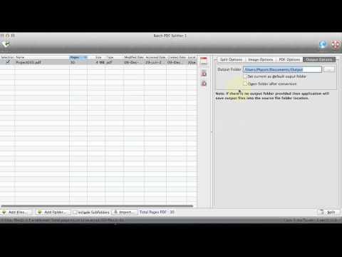 Batch PDF Splitter for Mac - Split batch PDF files into PDF files