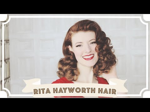 Rita Hayworth Vintage Hair Tutorial // How To Curl Your Hair [CC]