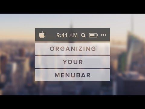 How To Organize Your Menu Bar | Mac Tutorial