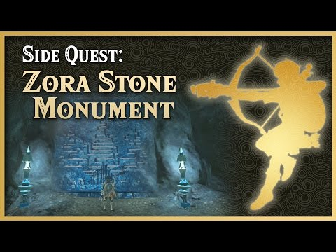 Zelda Breath of the Wild • Zora Stone Monuments • Lanayru Side Quest