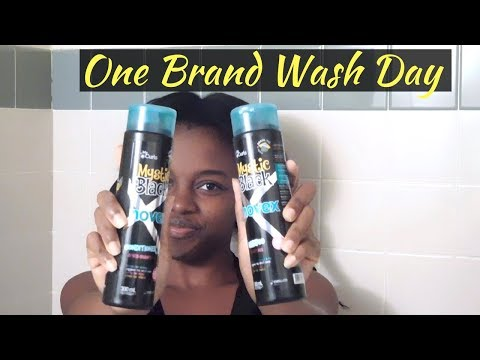 One Brand Wash Day | Novex Mystic Black Review & Demo