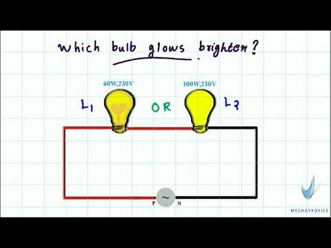 Which bulb glows brighter? |  series connection