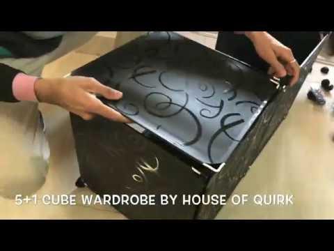 DIY Plastic 5+1 Cube Organizer, Bookcase, Storage Cabinet, Wardrobe Closet