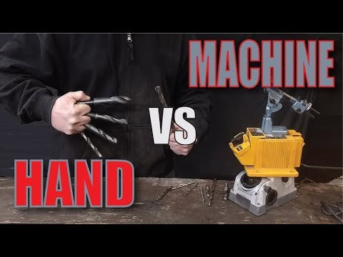 How to Sharpen Drill Bits by HAND vs MACHINE