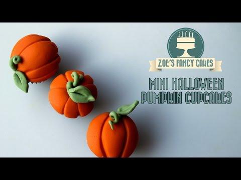 Mini Halloween pumpkin cupcakes How To Cake Tutorial