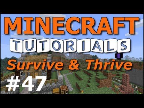 Minecraft Tutorials - E47 Mob Spawner Trap (Survive and Thrive II)