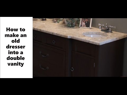 DIY Vanity Makeover - Double sink and Install your own granite
