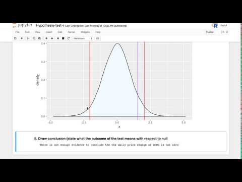 Statistics Hypothesis Testing || Two Tailed Hypothesis Test Tutorial with R || R Programming