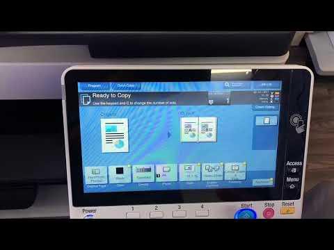 Konica Minolta C658 Tutorial How to make Booklets