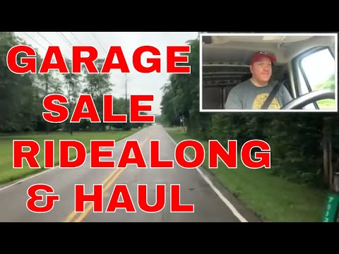 Friday Garage Sales Ridealong & HAUL-Records, Furniture, Bikes