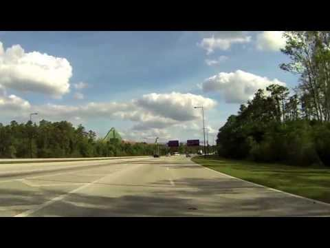Walt Disney World Driving From Epcot to Disney's Hollywood Studios 2013 HD 1080p